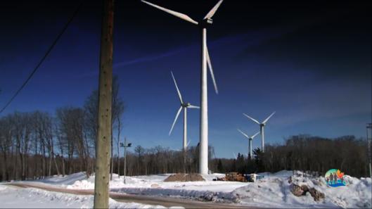 Windmills near Sault Ste Marie, Ontario